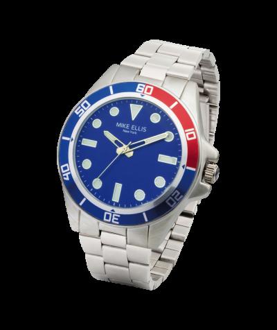 Mike Ellis Herren Uhr blau/silber