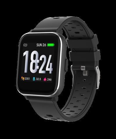 Smartwatch mit Temperaturmessung, schw.