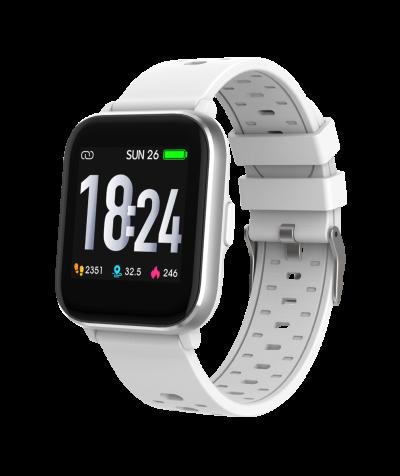 Smartwatch mit Temperaturmessung, weiß