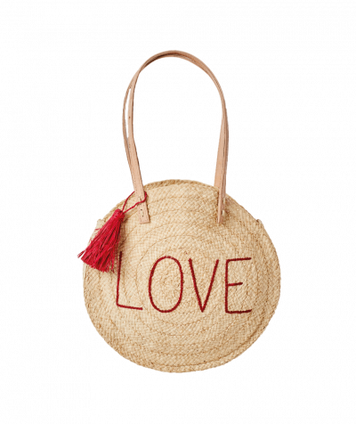 RICE Raffia Shoulder Bag