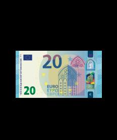 Verrechnungsscheck 20 EURO