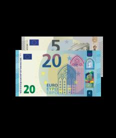 Verrechnungsscheck 25 EURO