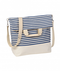Strandtasche Juist, blau-weiß