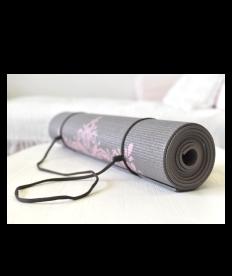 Yogamatte Mandala taupe/grau