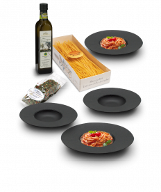 Pasta-Set, Schiefer, 7-tlg.